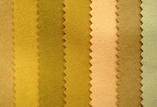 Замшевые ткани в разных оттенках