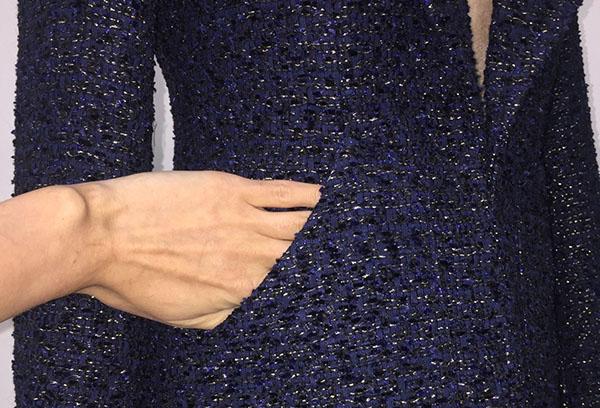 Жакет из темно-синего букле