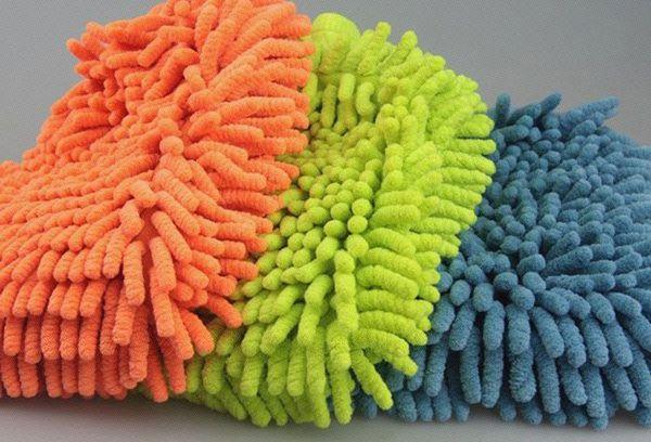 Варежки из микрофибры