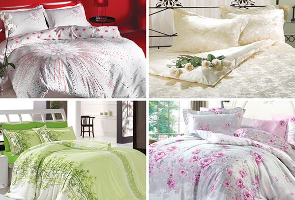 Свадебное постельное белье из полисатина