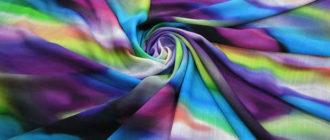 Яркая ткань rayon