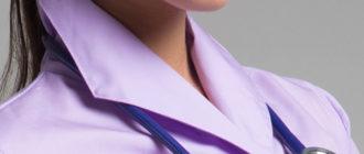 Медицинский халат из ткани сатори