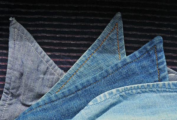 Воротнички из ткани шамбре