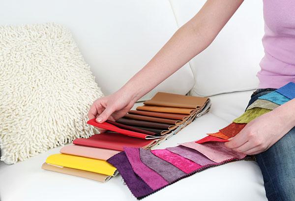 Выбор ткани для обивки мягкой мебели