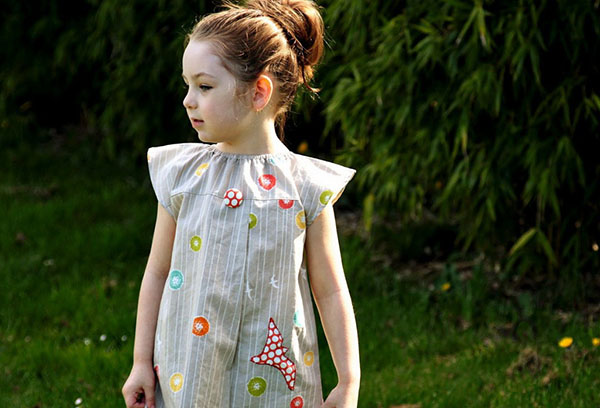 Детское платье из ситца