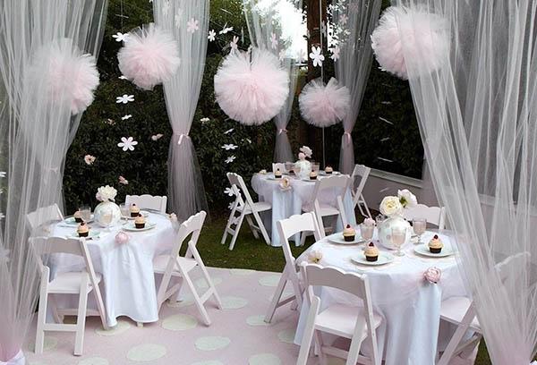 Тюлевый декор на свадьбу