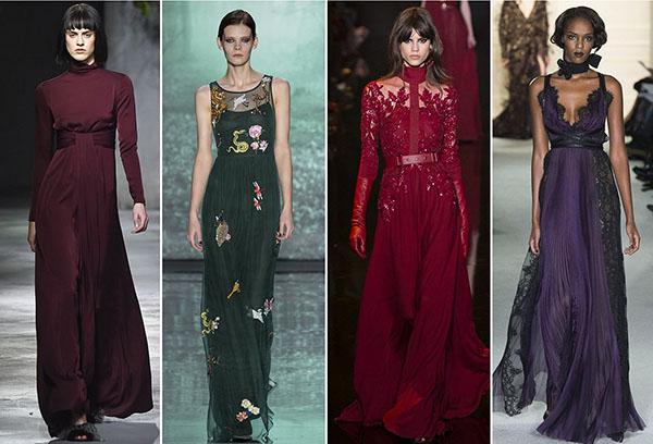 Платья из разных тканей