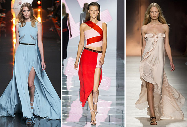 Модные платья из разных тканей