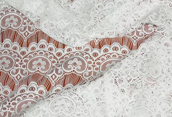 Ажурная ткань для свадебных платьев