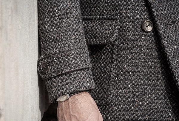 Пальто из грубой шерсти