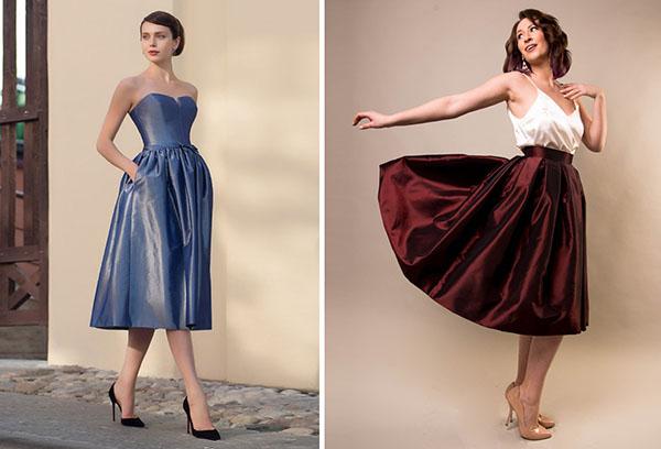 Женская одежда из тафты