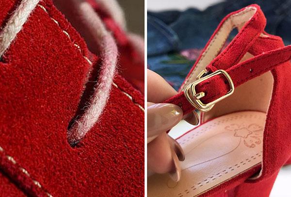 Обувь из искусственной и натуральной замши