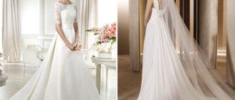 Свадебные платья из разных тканей
