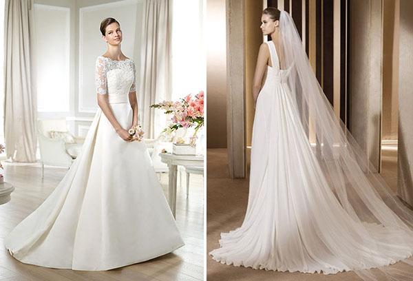 Из какого материала шьют свадебные платья