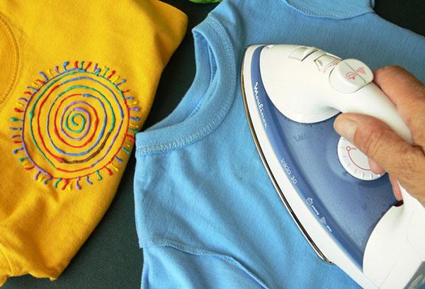Глажка детских футболок