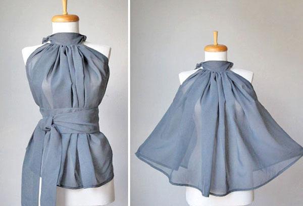 Блуза-трансформер из креп-жоржета