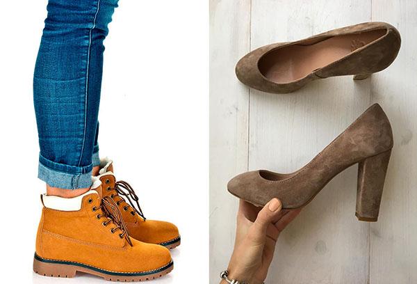 Обувь из нубука и замши