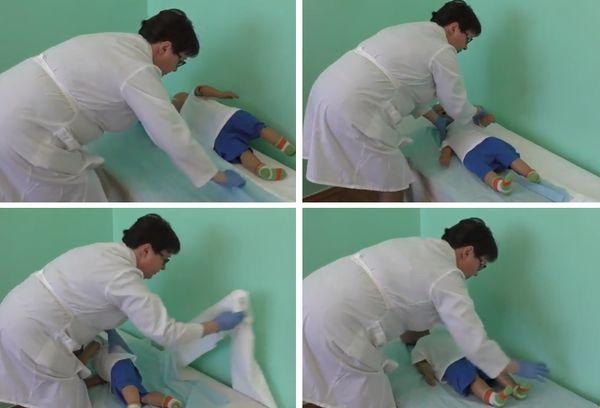 Смена постельного белья больному ребенку