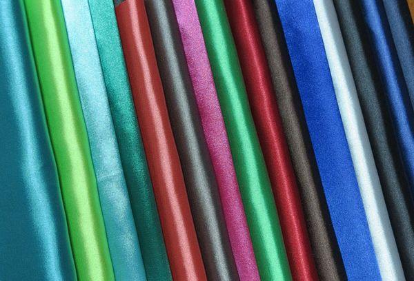 Разноцветные атласные ткани