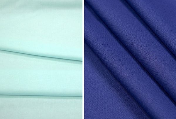 Ткань базь - голубой и синий