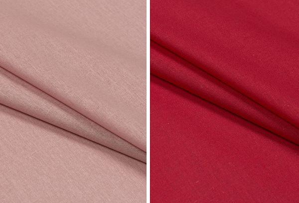 Ткань базь красного и розового цвета