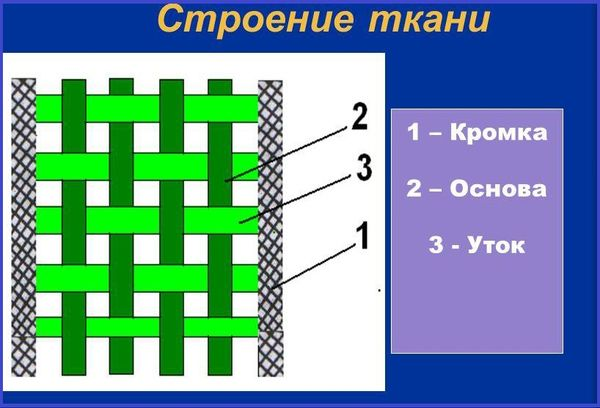 Строение ткани