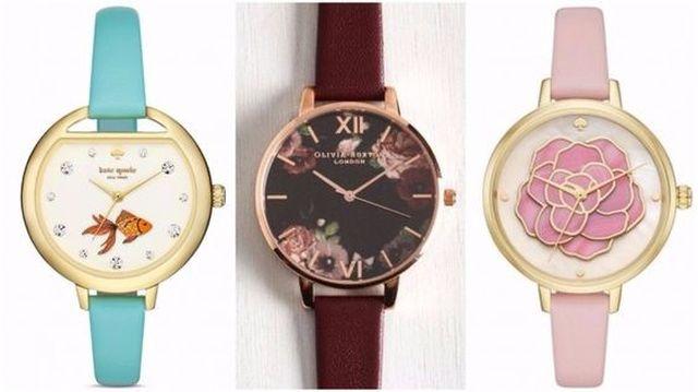 большие часы с фантазийным дизайном.