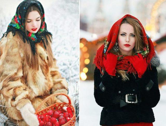 зимний вариант повязки шарфа