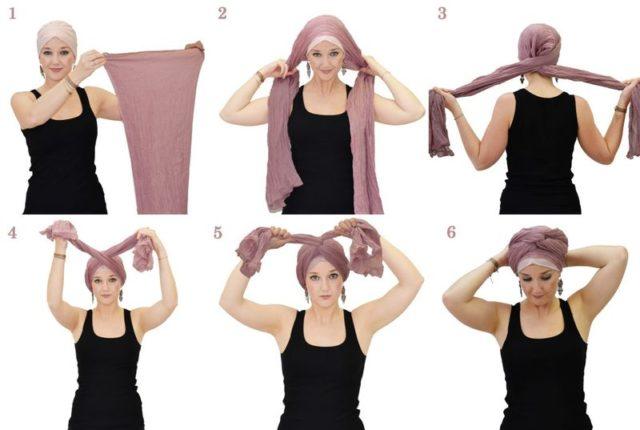 вариант повязки шарфа
