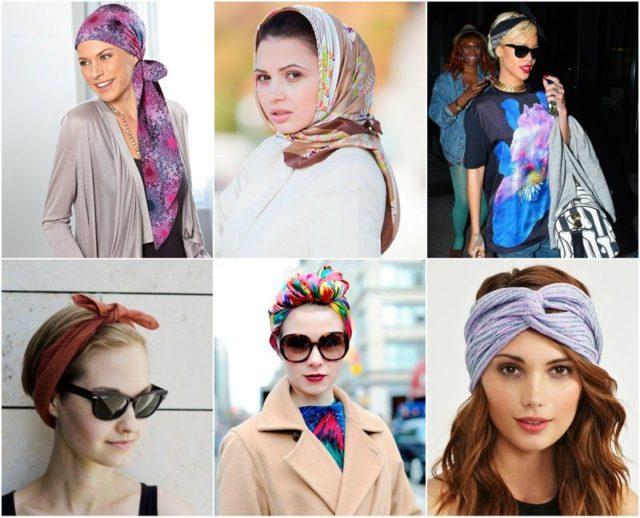 Разные варианты повязки шарфа