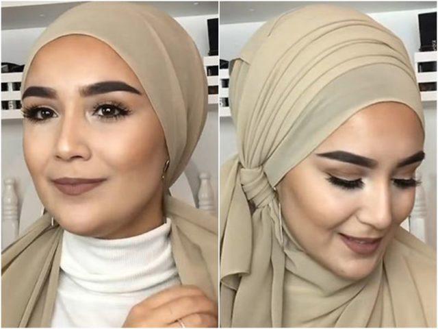 Мусульманский стиль повязки шарфа