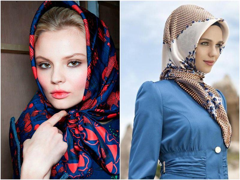 Как красиво завязывать платок на голову (65 фото): способы завязавания зимой и летом