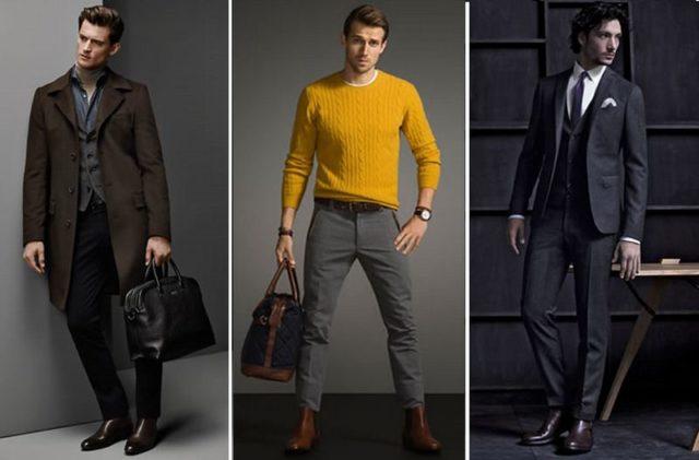 Мужские модные ботинки
