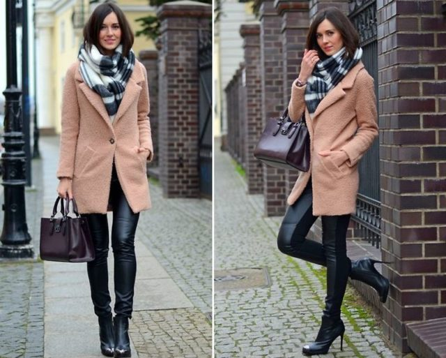 Лосины с пальто