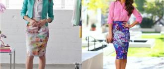 Узкие летние юбки