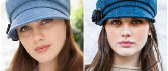 Джинсовые женские кепки