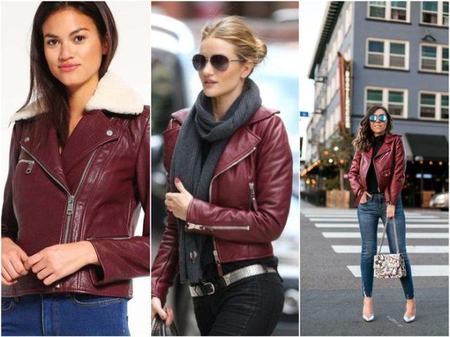 Бордовые куртки женские