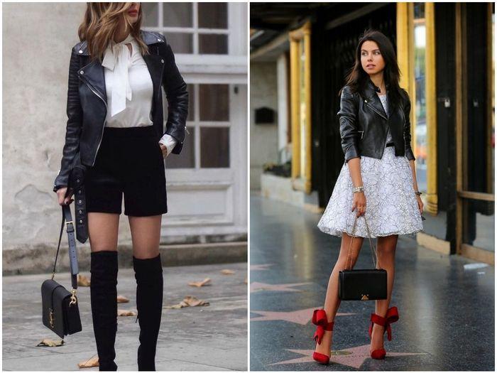 женские кожаные куртки черного цвета