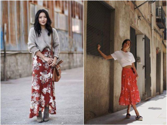 Красные летние юбки