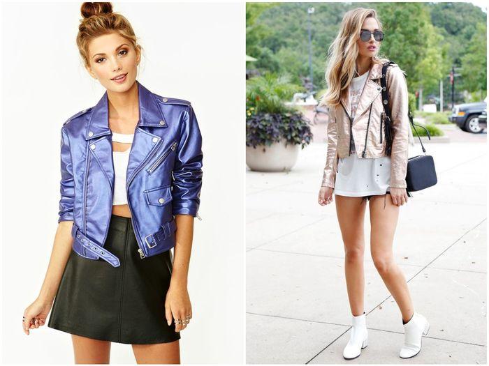 цветные кожаные куртки