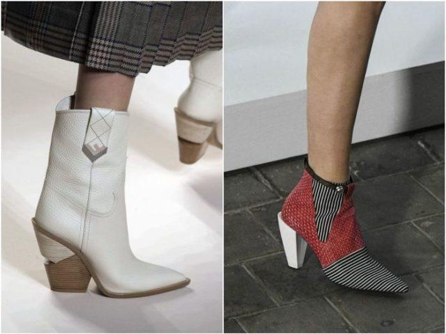 женская обувь на необычных каблуках