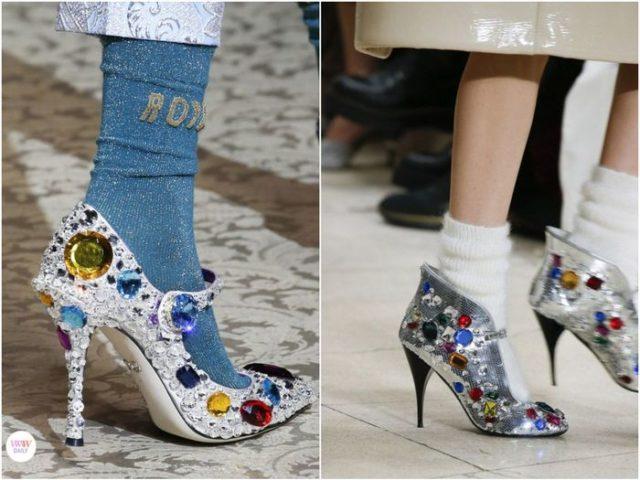 Туфли с стразами