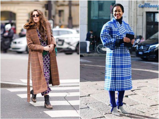 Коричневое и синее пальто