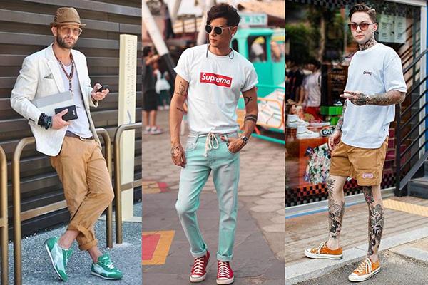 Летние мужские образы с кроссовками и кедами