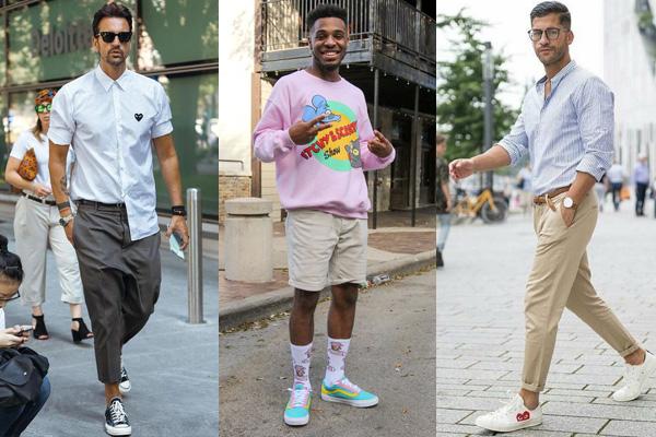 Летние мужские образы с кедами и кроссовками