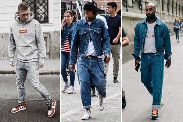 Модные мужские образы с кроссовками - 2019