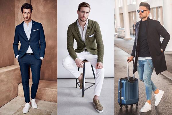 Мужские кеды и кроссовки в деловых образах