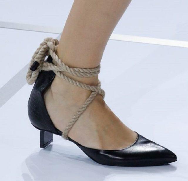 Женская обувь с веревкой