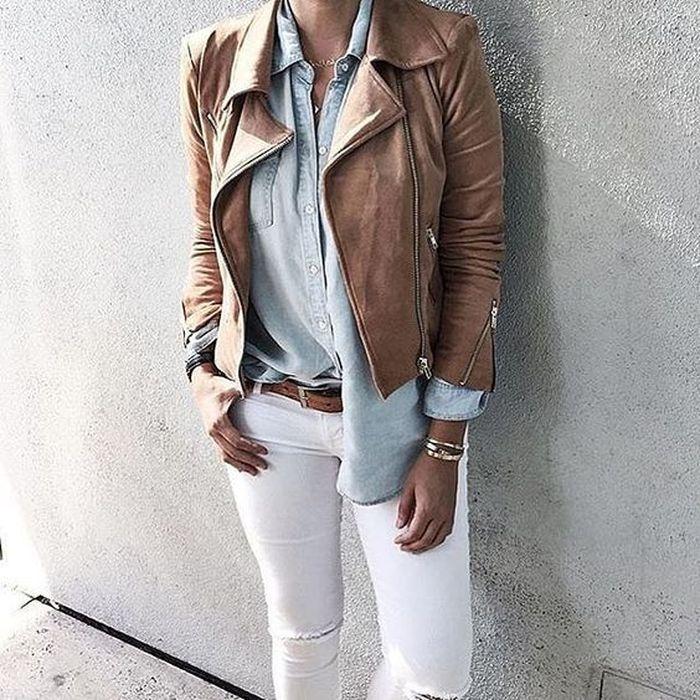 кожаная коричневая куртки