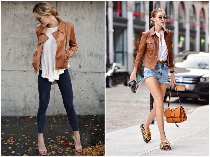 весенняя коричневая куртка